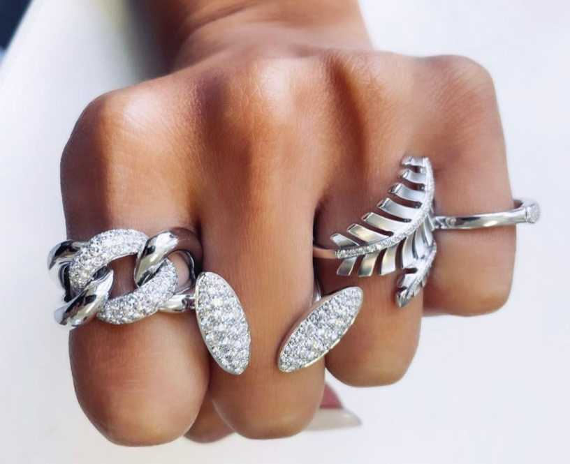 What is the meaning of the rings on each finger for women