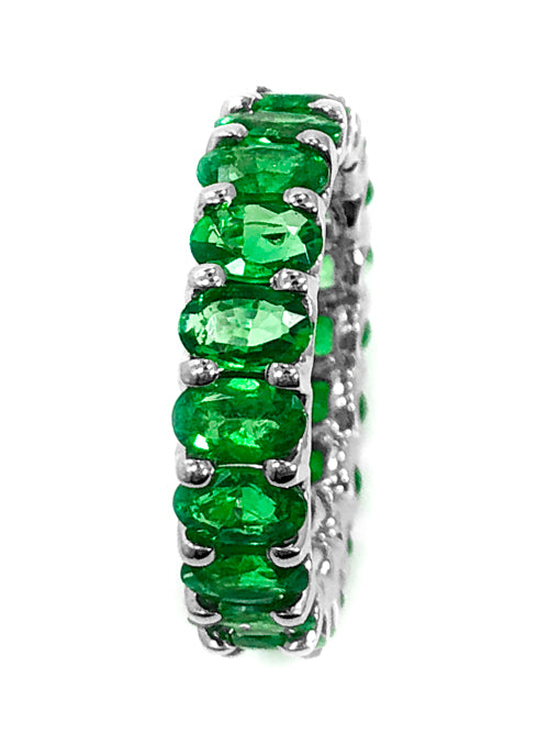 Albert Hern Natural Tsavorite Garnet Eternity Ring 18kt Gold