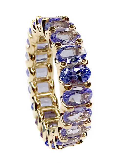 Albert Hern Natural Tanzanite Eternity Ring 18kt Gold
