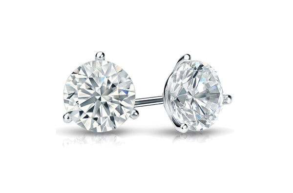 Earrings 0.60 cts Natural Round Diamonds H SI1 18kt Gold Studs