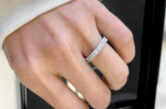 Eternity Ring White Gold with 25 Diamonds 1.60 cts  - Albert Hern US Fine Jewelry