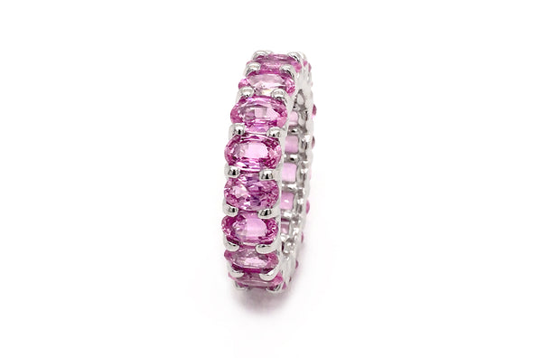 Eternity Ring Pink Tourmaline & Gold
