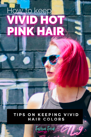 Maintaining Vivid Hair colors without cold showers