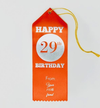Happy 29th Birthday | Twisted Tag | Bookmark