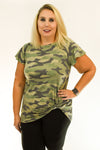 Camo Side Knot with Flutter Sleeve | Olive & Black
