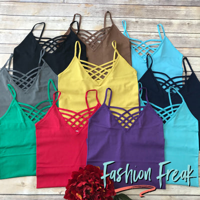 Seamless Caged Cami | 10 Colors | Fashion Freak LLC