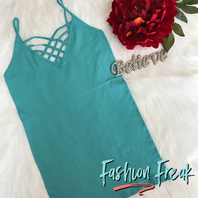 Seamless Caged Cami | Mint | Fashion Freak LLC