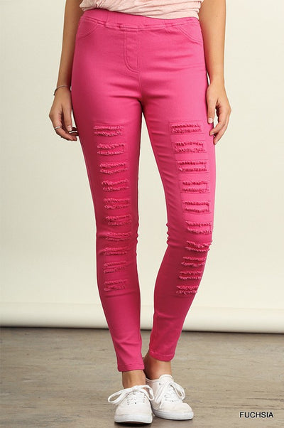 The BEST Jeggings Ever | Fuchsia