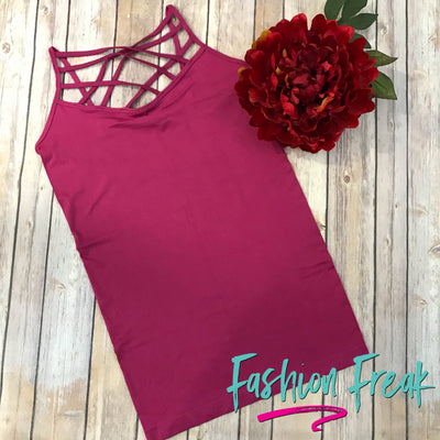 Seamless High Criss Cross Cami