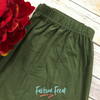Basic Solid Color Leggings | Elastic Waistband | Olive | Fashion Freak