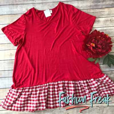 Just A Touch of Gingham | Red