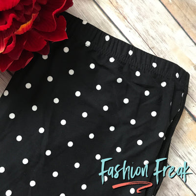 Black & White Polka Dot Leggings