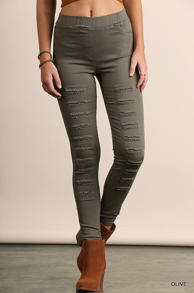 The BEST Jeggings Ever | Olive