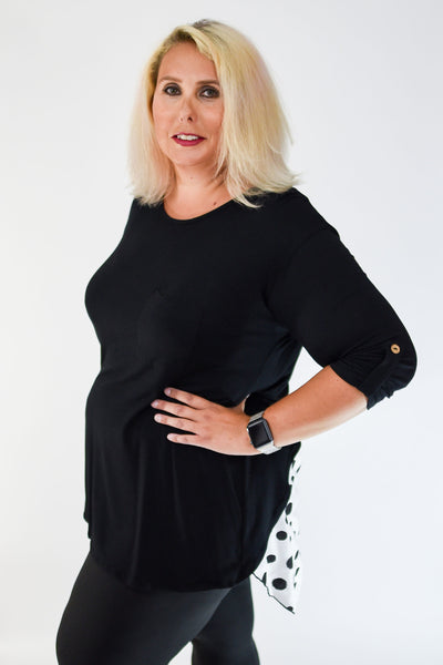 Polka Dot Sneak Attack Tunic | Black | Plus Size | Rosemont, MN