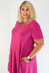 Magenta Lattice Front Pocket Dress | Apple Valley, MN | Fashion Freak LLC