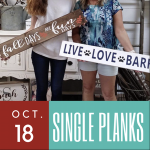 10/18/2017 (6pm) Single Plank Board Workshop