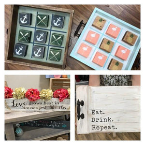03/10/18 6:30 pm Tray/Tic-Tac-Toe/Centerpiece Box/Cross Workshop (Ocala)