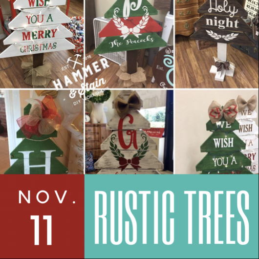 11/11/2017 (6:30pm) Rustic Christmas Tree Workshop (Ocala)