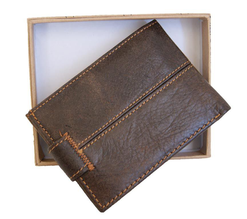 f487ca9a8cfd Wallets & Holders - Genuine Leather Bifold Snap Extra Card Holder ID ...