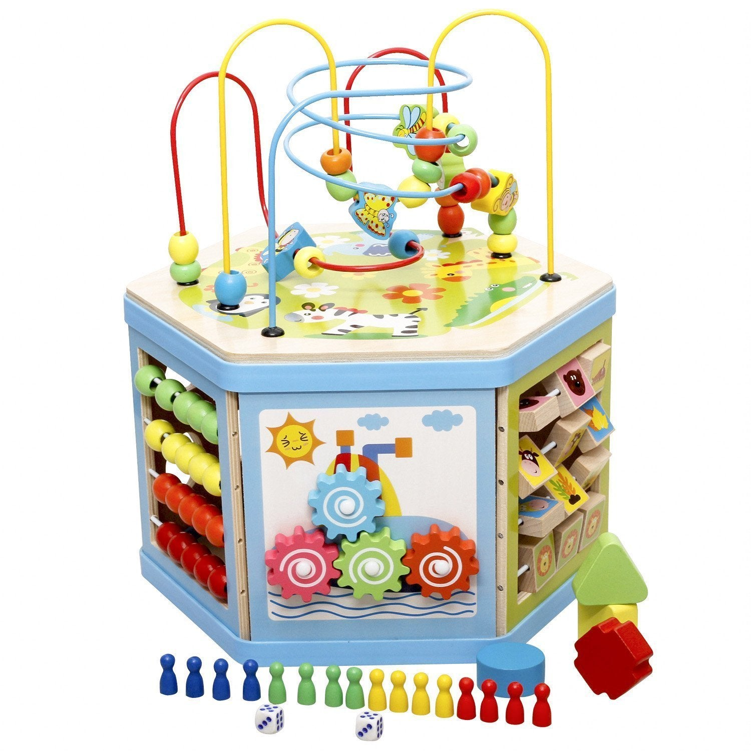 Other Battery Wind Up Lewo Large 8 In 1 Bead Maze Cube First