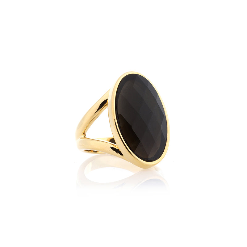 Obsidian Ring | Queen Shape