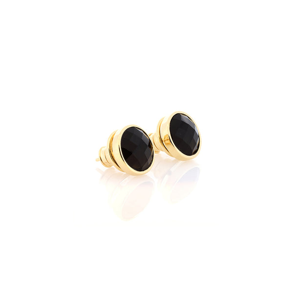 Obsidian Stud Earrings
