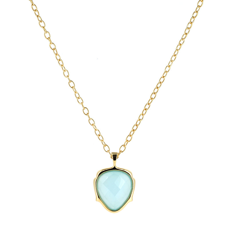 Blue Agate Necklace | Lady Shape