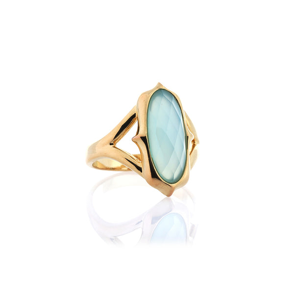 Blue Agate Ring | Lady Shape