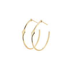 Lady Hoop Earrings | Gold