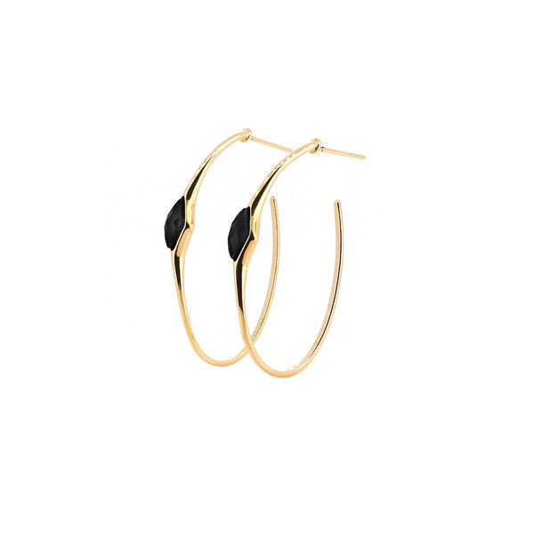 Gold Hoop Earrings | Obsidian