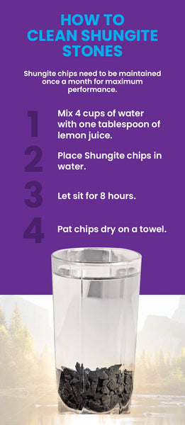 how to clean shungite