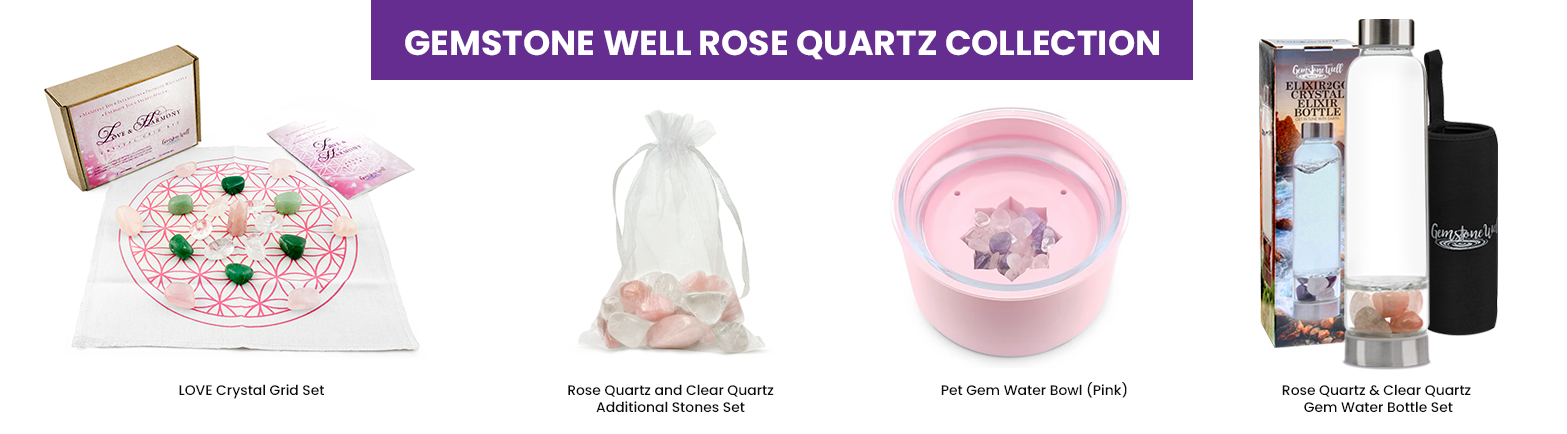 gemstone well rose quartz collection