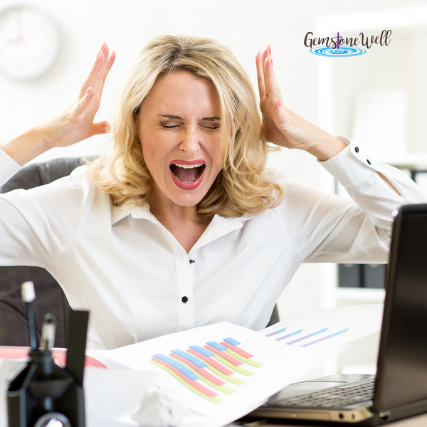 woman getting stressed at work