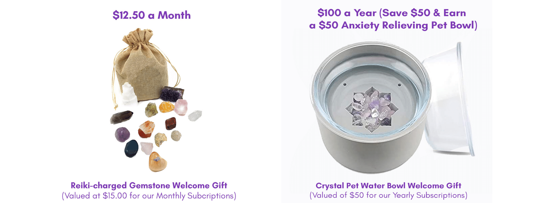 Welcome Gifts for Our Crystal Healers