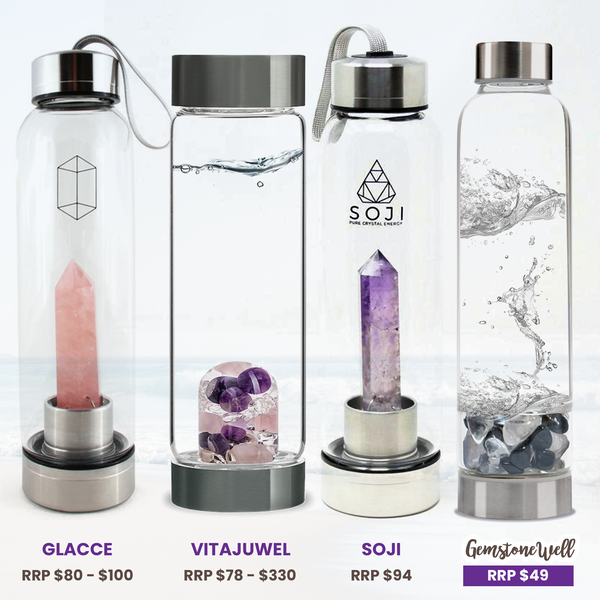 vitajuwel crystal water bottle