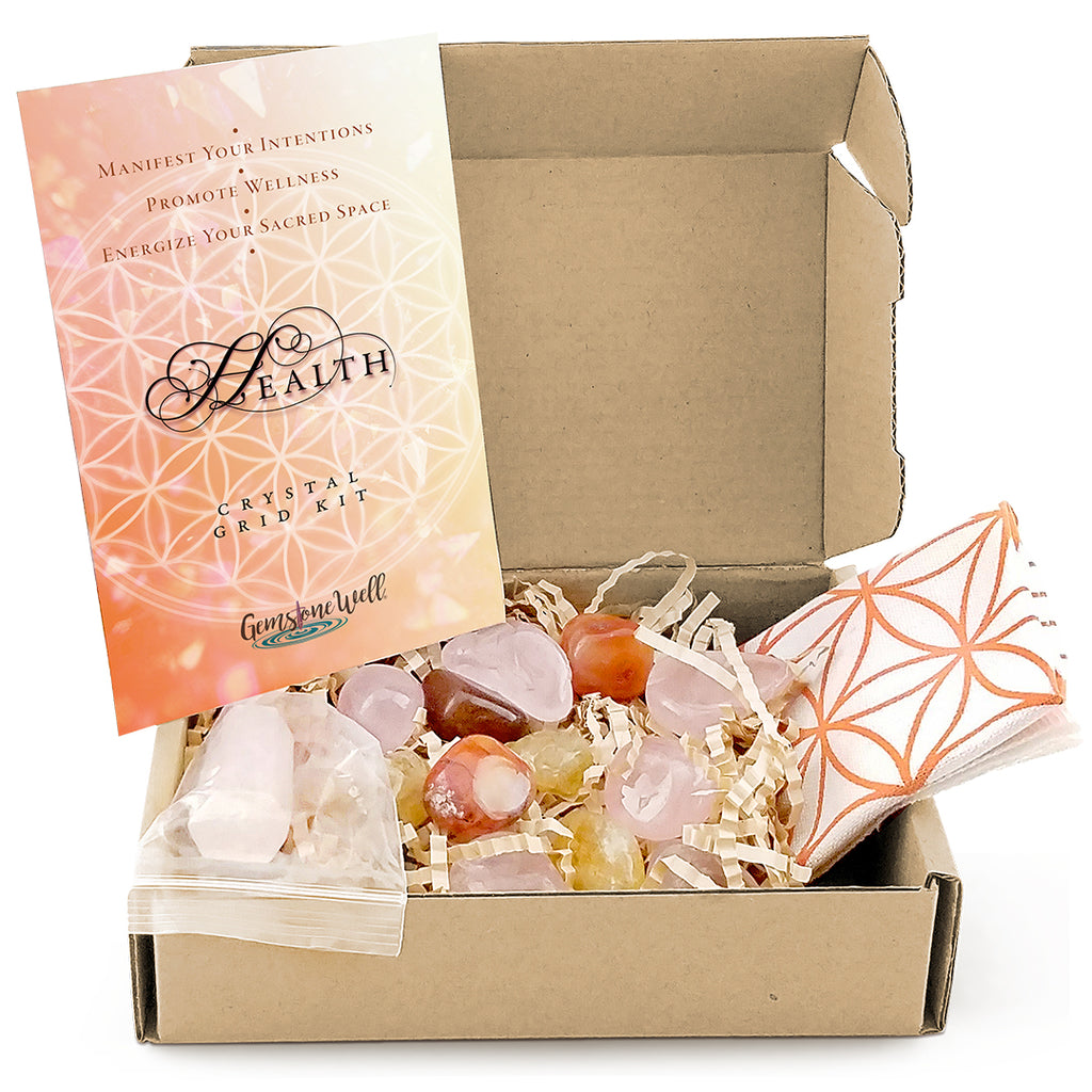 contents of crystal grid kit for health