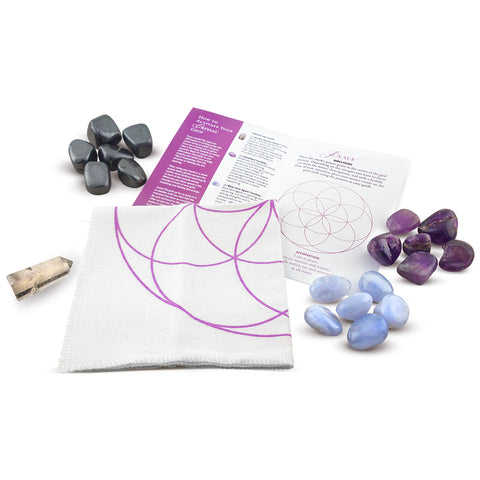 whats included in a crystal grid kit