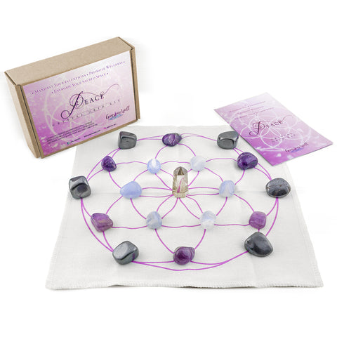 peace crystal grid kit