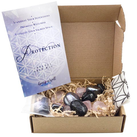 contents for crystal grid kit for protection