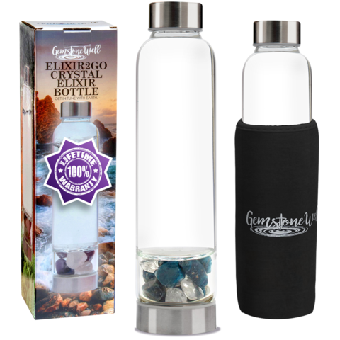 Crystal Water Bottle Elixir Set