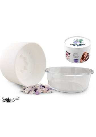 white pet water bowl