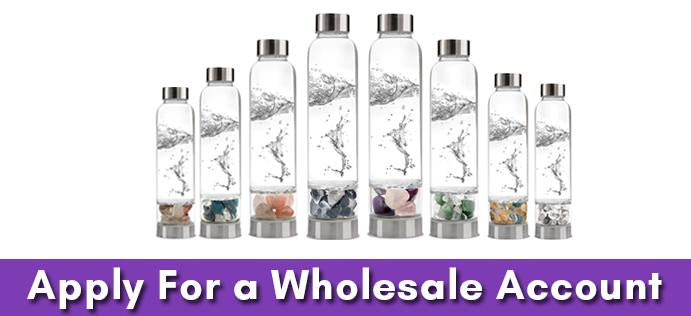 range of gemstone well water bottles