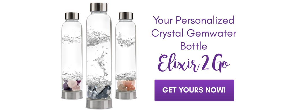 Gemstone Well Crystal Elixir Water Bottles