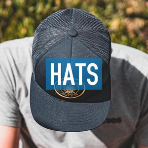 Collection of outdoor hats with a fun and unique twist.