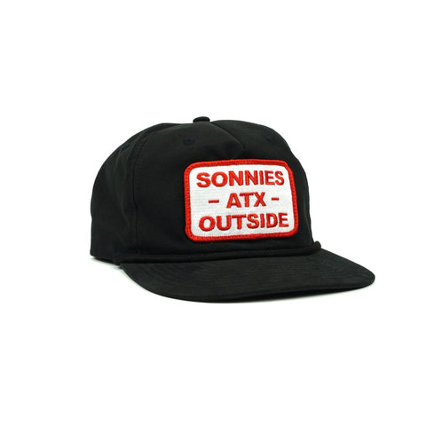 Sonnies Outside - Black Roper Snapback Grandpa Hat Baseball Cap