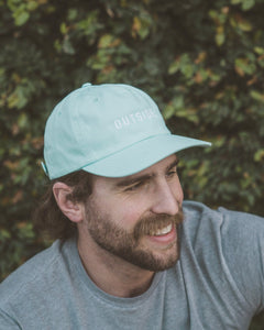 Sonnies Outside - Blue Outside Dad Hat Baseball Cap Model View