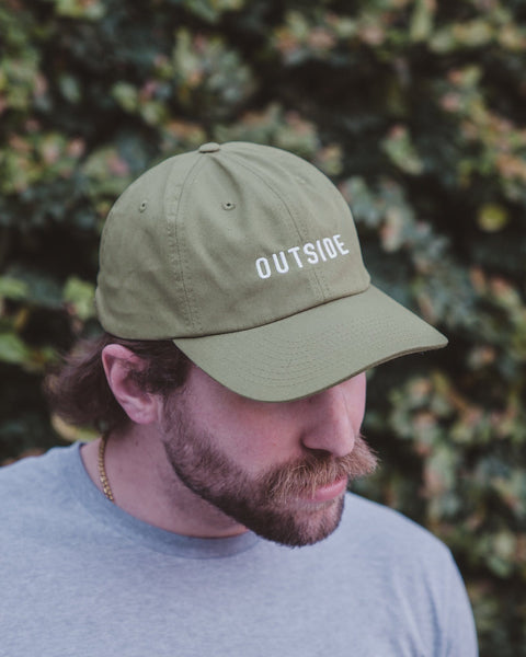 Sonnies Outside - Green Outside Dad Hat Baseball Cap Model View