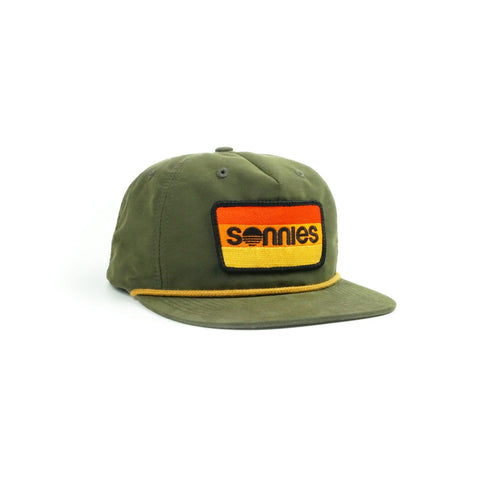 Sonnies Outside - Green Snapback Grandpa or Dad Hat Cap