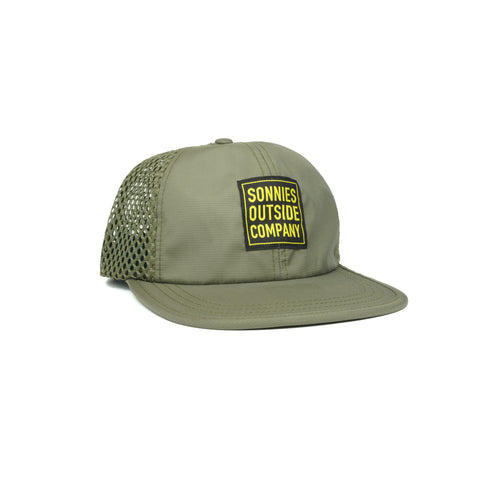 Sonnies Outside Green Water Snapback Hat Cap for Rafting Trail Running Paddling