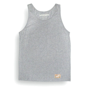 Sonnies Outside Hiking Clothes - Mens Grey Tank Top 80s